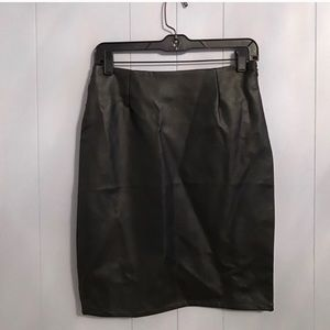 Lulus faux leather skirt